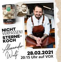 """Michelin-Sternekoch Alexander Wulf kocht für das Label """"der BioMüller"""" Bild: Landhaus Teigwaren Müller Fotograf: Landhaus Teigwaren Müller"""