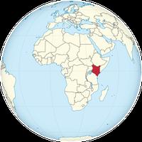 Kenia auf der Erde