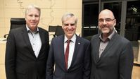 Jörg Nobis MdL, Dr. Bruno Hollnagel MdB, Claus Schaffer MdL (v.l.n.r.) am 6. September 2019 in Kiel.