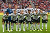 Die deutsche Nationalmannschaft vor dem Testspiel gegen Österreich am 2. Juni 2018.