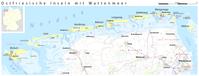 Lage der Minsener Oog am Ostende der Ostfriesischen Inseln