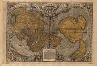 Weltkarte des Orontius Finaeus aus dem Jahr 1531, Südhemisphere mit hypothetischer Terra Australis