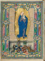 Furtmeyr-Bibel, Regensburg, 1470 (Augsburg, Universitätsbibliothek Cod.I.3.2°III, 2v)