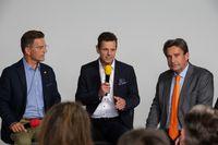 """v.r.n.l. Dr. Peter Reich, Bernd Kölmel und Dirk Kosse. Bild: """"obs/LKR - Die Eurokritiker/AEON"""""""