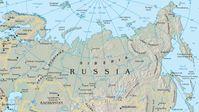 Karte von Sibirien