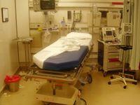 Notaufnahme nach der Behandlung eines Patienten