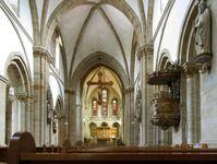 Mittelschiff nach Osten im Osnabrücker Dom