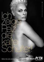 "Gemeinsam mit PETA kämpft Brigitte Nielsen gegen Pelz. Bild: ""obs/PETA Deutschland e.V./Paul Schirnhofer für PETA"""