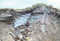 Permafrostboden mit Eiskeil