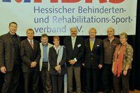 v. l. n. r.: William Sonnenberg, Dr. Klaus Edel, Hans-Jörg Klaudy, Anita Maier, Gerhard Knapp, Heinz Wagner, Harry Apelt, Annegret Müller Bild: HBRS