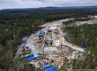 Die Arbeiten zum Bau des Świnoujście-Tunnels haben begonnen · Bild: UM/ Mateusz Grzeszczuk, GDDKiA