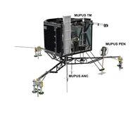 Die MUPUS PEN(etrator) genannte Tiefensonde wurde nach der Landung ausgesetzt. Der Hammermechanismus Quelle: © ESA / ATG media lab (idw)