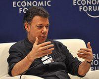 Juan Manuel Santos Bild: World Economic Forum . Photo by Edgar Alberto Domínguez Cataño