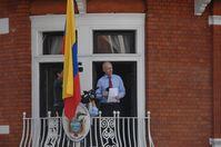 Assange auf dem Balkon der ecuadorianischen Botschaft in London
