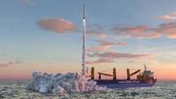 """So soll die Startplattform in der Nordsee voraussichtlich aussehen. Bild: Screenshot Internetseite: """"https://offshore-spaceport.de/de/"""" / Eigenes Werk"""