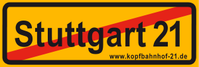 Anti-Stuttgart 21 Aufkleber