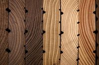 Unterschiedliche Holzmuster in der wissenschaftlichen Holzsammlung des Thünen-Institus. (Foto: Ilja Hendel) Quelle:  (idw)