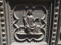 Justitia auf Portal des Baptisterium San Giovanni in Florenz (Symbolbild)
