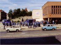 Gründungsveranstaltung des ersten THW-Ortsverbandes in den neuen Bundesländern in Halberstadt am 29.06.1991. Bild: THW