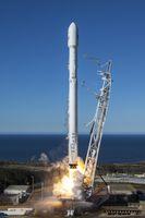 Start einer Falcon 9 v1.2 mit den ersten zehn Iridium-NEXT-Satelliten (2017)
