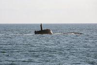 Das Uboot U 32 (212A Klasse) taucht auf in der Eckernförder Bucht.