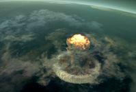 """Vor rund 66 Millionen Jahren schlug ein großer Asteroid im heutigen Golf von Mexiko auf die Erde. Bild: """"obs/ZDF/Julius Brighton"""""""