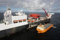 Verlegeschiff am Bau von Nord Stream 2