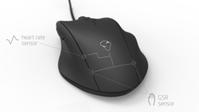 Maus mit Sensoren: Sie hilft E-Sportlern auf die Sprünge. Bild: mionix.net