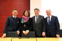 Tanja Schorer-Dremel, Alexander König und Prof. Dr. Winfried Bausback (2018)