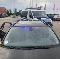 LED Blaulicht angebaut Bild: Bundespolizei
