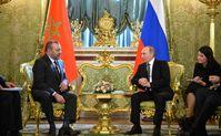 König Mohammed VI von Marokko und Präsident Vladimir Putin von Russland (2016)