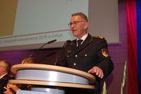 DFV-Präsident Hartmut Ziebs bei der Delegiertenversammlung in Erfurt.
