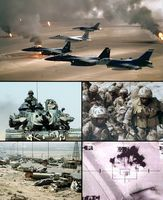 """Bilder eines """"modernen"""" Krieges (Zweiter Golfkrieg), Symbolbild"""