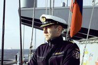 Der Kommandeur des 1. Korvettengeschwaders an Bord.