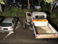 Abgebrannter Roller Bild: Polizei