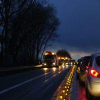 Stau, Autobahn, Baustelle (Symbolbild)