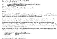 Die Anmeldebestätigung des amerikanischen CSNET war die erste E-Mail, die in Deutschland empfangen w Quelle: Bild: KIT (idw)