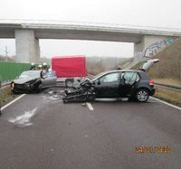 Unfallstelle B188 Bild: Polizei