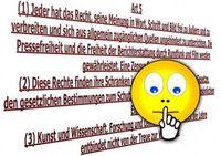 Grundrecht: Zensur verstößt gegen Gesetz (Foto: pixelio.de/Gerd Altmann)