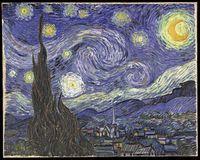 """""""Sternennacht"""" des niederländischen Künstlers Vincent van Gogh."""