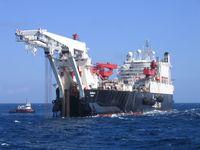 Die Solitaire, einer der größten Unterwasser-Pipeline verlger Schiffe.