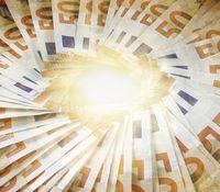 Euro-Scheine: Wohlstand in Deutschland sinkt.