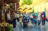 Bilder von Oktober 2017 in Syrien, Damaskus.