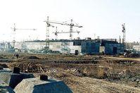 Lagergebäude im Bau für spaltbares Material in der Kerntechnischen Anlage Majak. Bild: Carl Anderson, US Army Corps of Engineers
