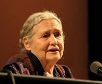 Doris Lessing bei einer Lesung auf der Lit.Cologne 2006 in Köln