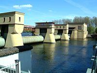 Das Laufwasserkraftwerk Hengstey zwischen Herdecke und Hagen
