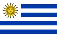 Flagge von Uruguay (amtlich República Oriental del Uruguay - Republik Östlich des Uruguay)