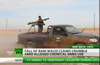"Screenshot aus dem Youtube Video ""Video: Bani Walid In Ruins After Heavy Attack! """