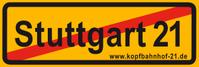 Anti Stuttgart 21-Aufkleber