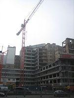 Der Résidence Palace in Brüssel, derzeit im Umbau befindlich, soll ab 2012 Tagungsort des Europäischen Rates werden. Bild: JLogan / de.wikipedia.org